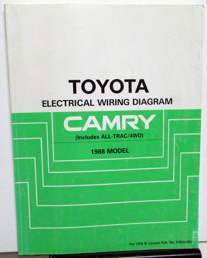 1988 Toyota Camry Service Shop Repair Manual Electrical