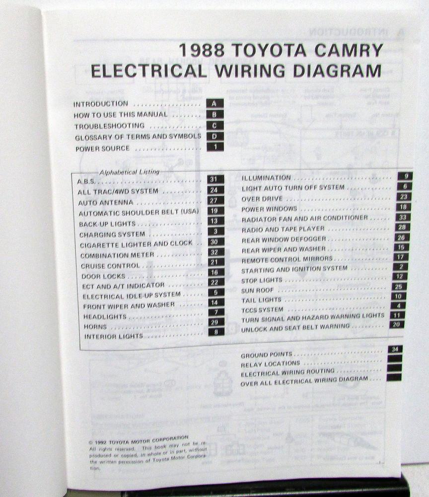 Diagram 1992 Toyota Camry Electrical Wiring Diagram Guide Handbook Full Version Hd Quality Guide Handbook Diagramforlife Biorygen It