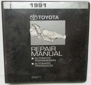 1991 Toyota Automatic Transaxle Service Repair Manual Folder Set Us Canada