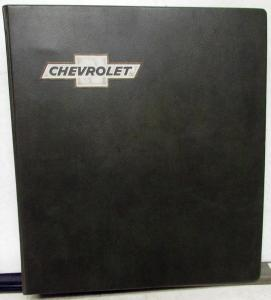 1975 Chevrolet Dealer Data Book Album Monte Carlo Camaro Corvette Nova