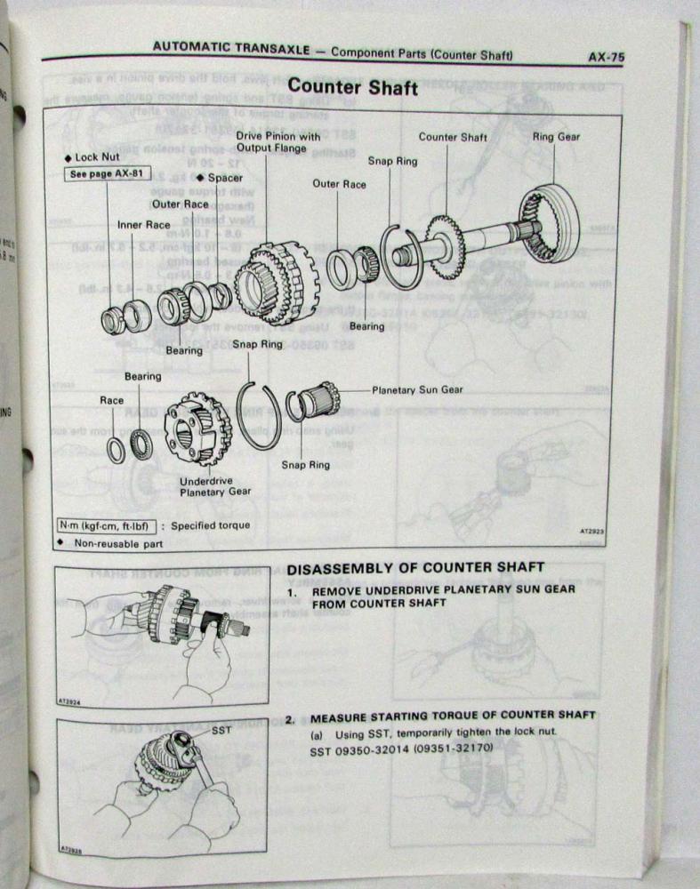 1992 Toyota Automatic Transmission Service Repair Manual A240L A241E A241H  A243L