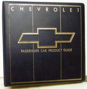 1986 Chevrolet Dealer Passenger Car Product Guide Album Camaro Corvette Caprice