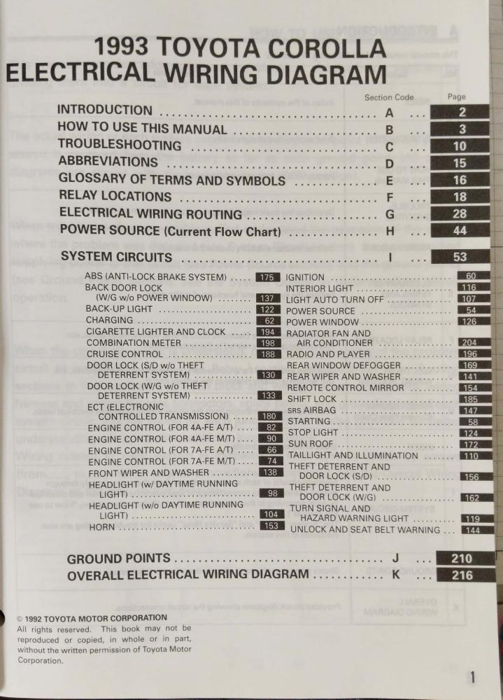 1993 Toyota Corolla Electrical Wiring Diagram Manual Us Canadarhautopaper: 1993 Toyota Corolla Wiring Diagram At Gmaili.net