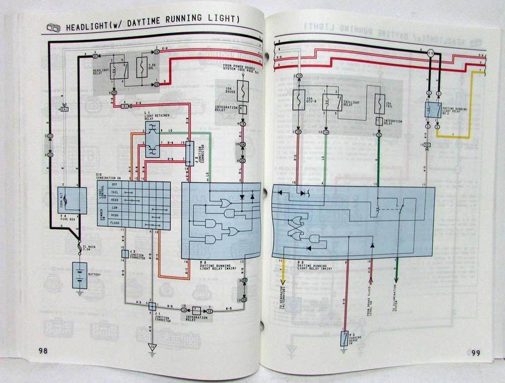 1993 Toyota Corolla Electrical Wiring Diagram Manual US & Canada on