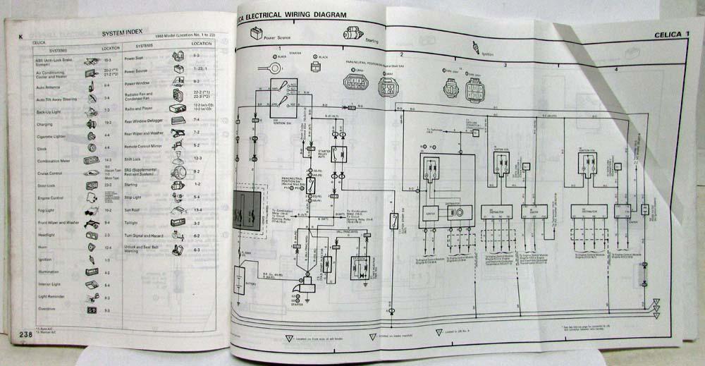 1993 Toyota Celica Electrical Wiring Diagram Manual Us Canadarhautopaper: 2001 Celica Wiring Diagram At Gmaili.net