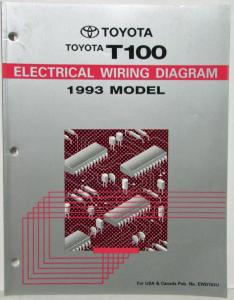 1993 Toyota T100 Electrical Wiring Diagram Manual US & Canada