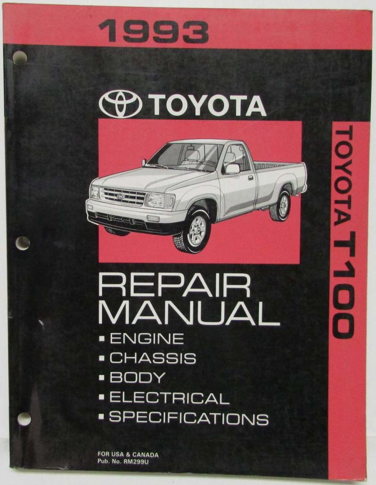 1993 toyota t100 service shop repair manual us canada rh autopaper com 1982 Toyota Pickup 1982 Toyota Pickup