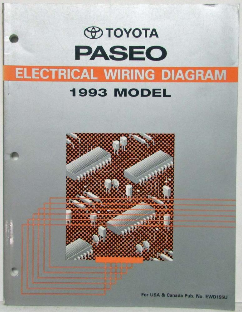 1993 Toyota Paseo Electrical Wiring Diagram Manual US & CanadaTroxel's Auto Literature