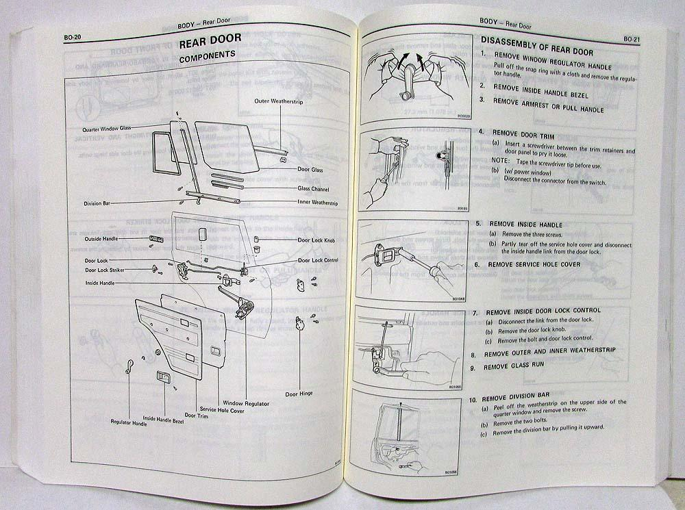 1985 toyota land cruiser service shop repair manual chassis body rh autopaper com Parts Manual 12H802 Manual