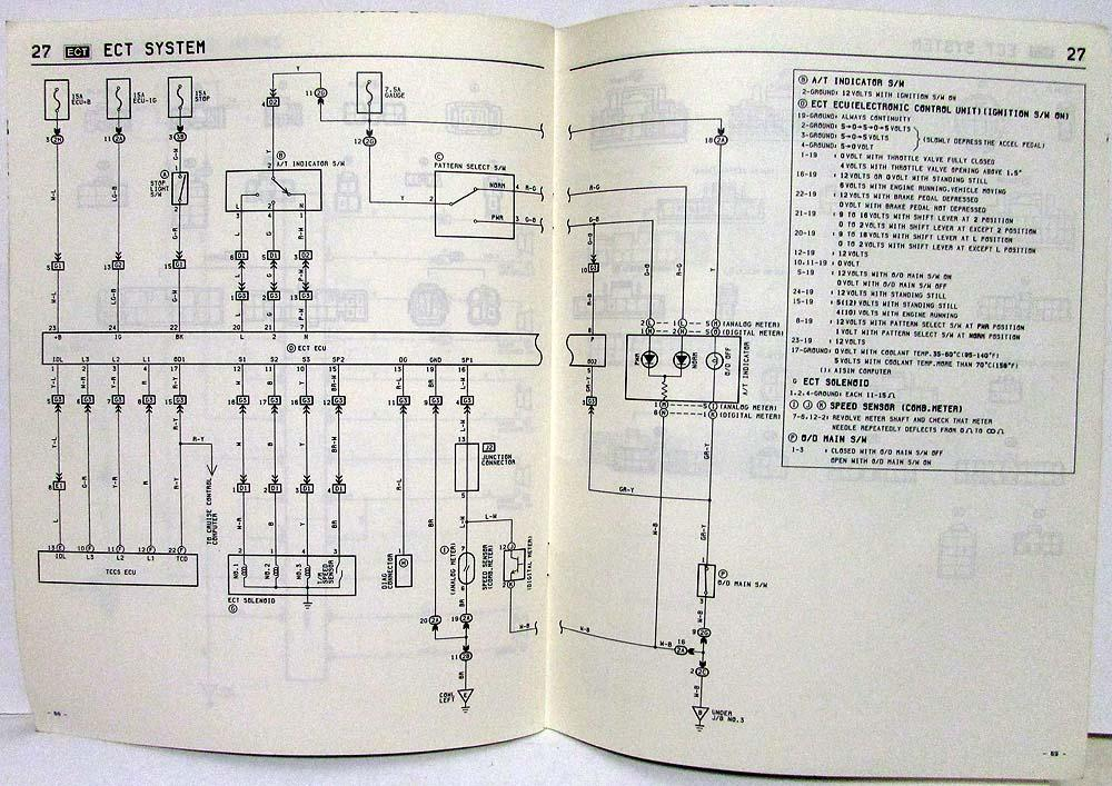 1985 Toyota Celica Supra Electrical Wiring Diagram Manual US & CanadaTroxel's Auto Literature
