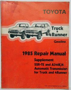 1985 toyota cressida station wagon repair manual electrical wiring rh autopaper com Toyota 4Runner Repair Manual PDF 1986 toyota 4runner factory service manual