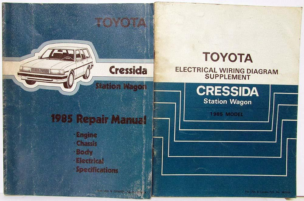 1985 toyota cressida station wagon repair manual & electrical wiring diagram