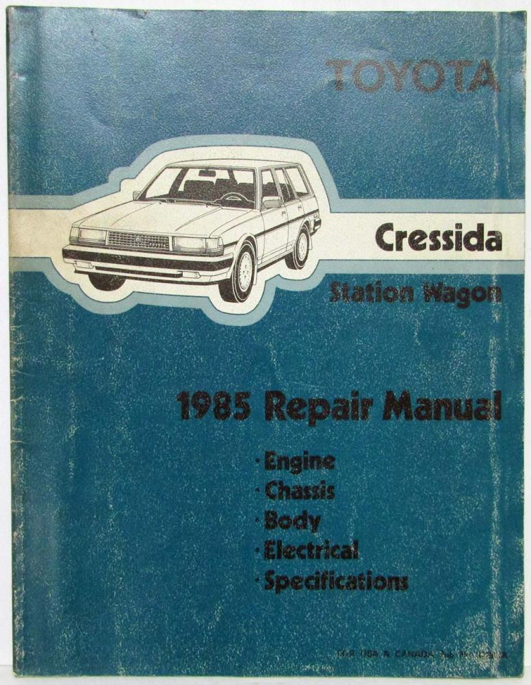 1986 toyota cressida wiring diagram 1985 toyota cressida station wagon repair manual   electrical  1985 toyota cressida station wagon