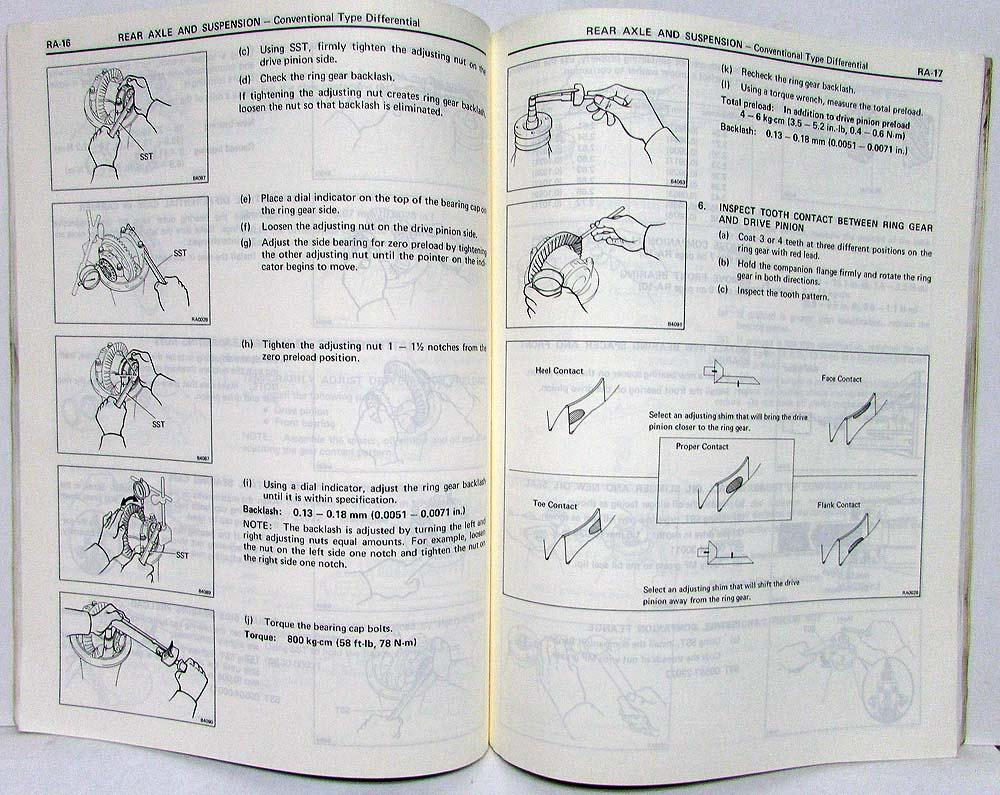1985 Toyota Cressida Station Wagon Repair Manual Electrical Wiring Diagram