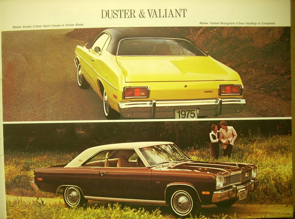 Road Runner Auto Sales >> 1975 Plymouth Full Line Brochure CANADA Duster Valiant Fury Gran Fury Wagons