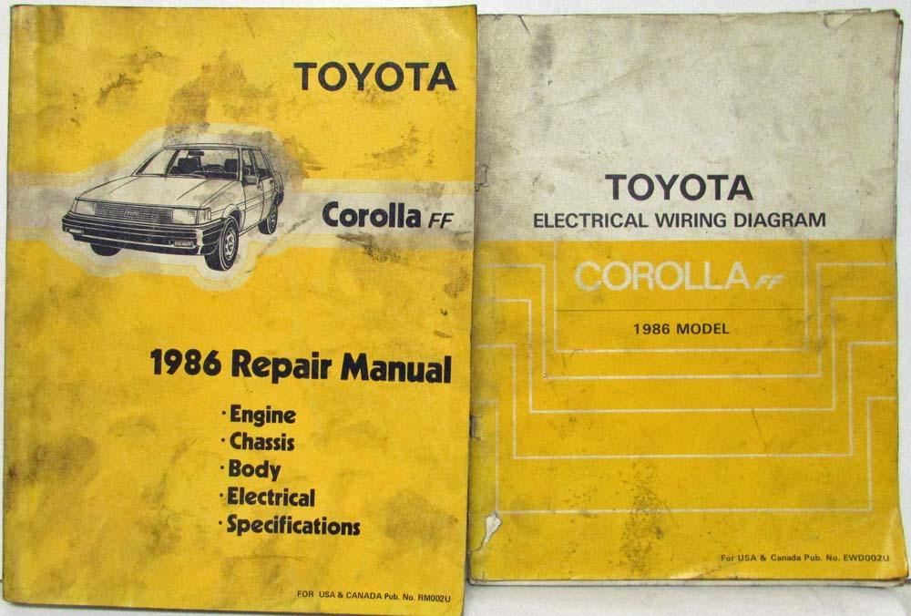 1986 toyota corolla ff shop repair manual electrical wiring rh autopaper com Auto Repair Manual Auto Repair Manual