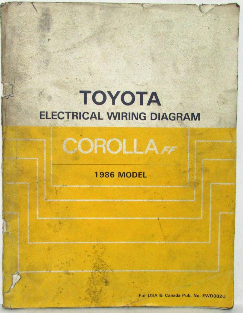1986 toyota corolla ff shop repair manual electrical wiring rh autopaper com Dodge Factory Service Manual Auto Repair Manual