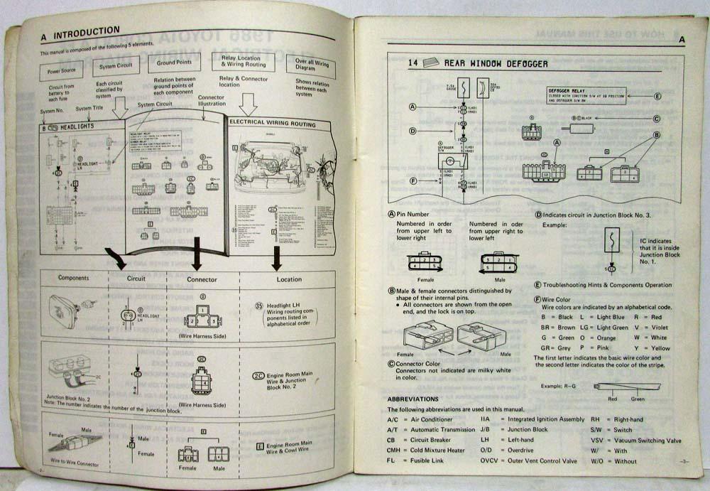 1986 toyota corolla ff shop repair manual electrical wiring rh autopaper com 1986 Toyota Corolla Hatchback 1989 Toyota Corolla