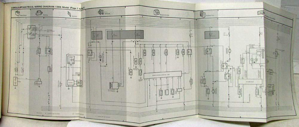 1986 toyota corolla ff shop repair manual \u0026 electrical wiring 1986 Toyota Hilux Wiring-Diagram