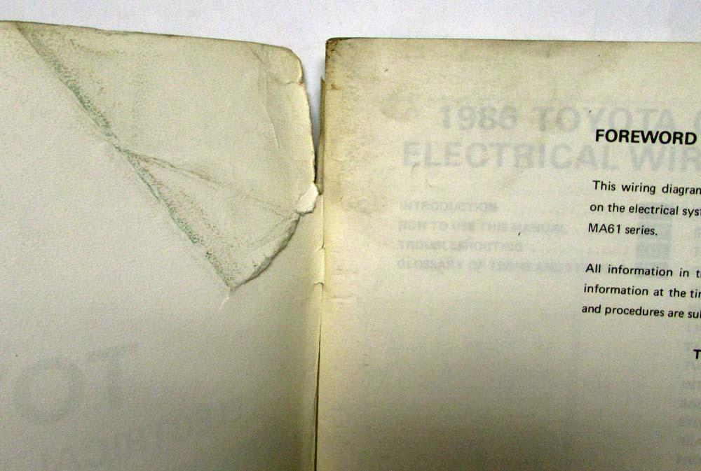 1986 Toyota Celica Supra Electrical Wiring Diagram Manual Us Canada