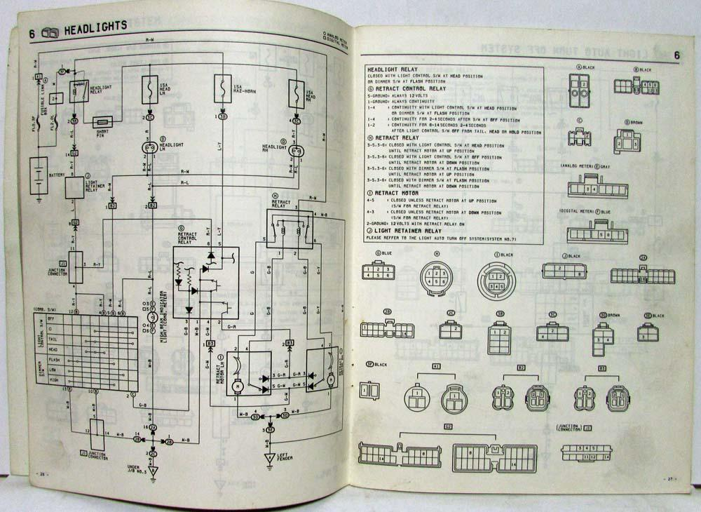 1986 toyota celica supra electrical wiring diagram manual ... 1986 toyota truck fuel filter #8
