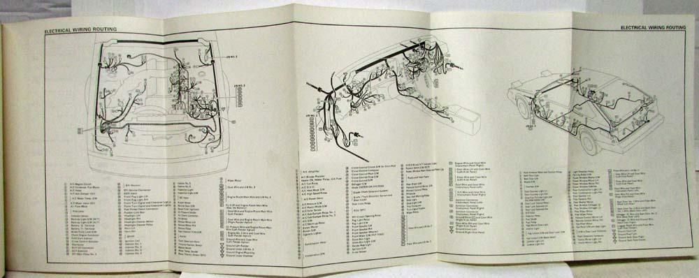 1986 Toyota Celica Supra Electrical Wiring Diagram Manual Us Canada