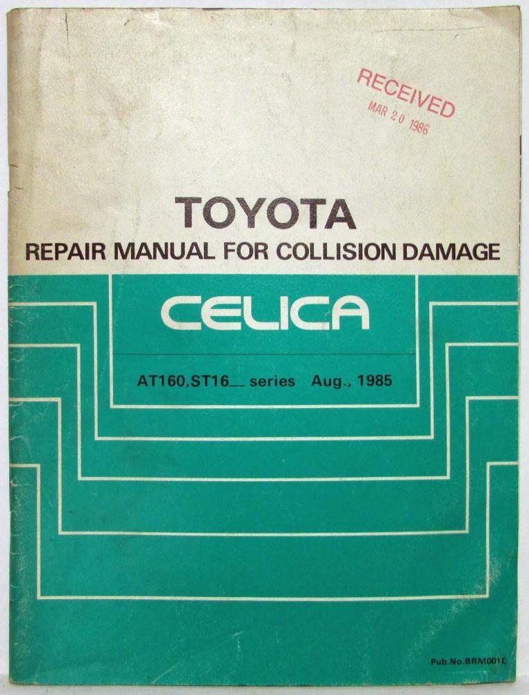 1985 toyota celica service shop repair manual for collision damage rh autopaper com 1999 Celica 1998 toyota celica repair manual pdf