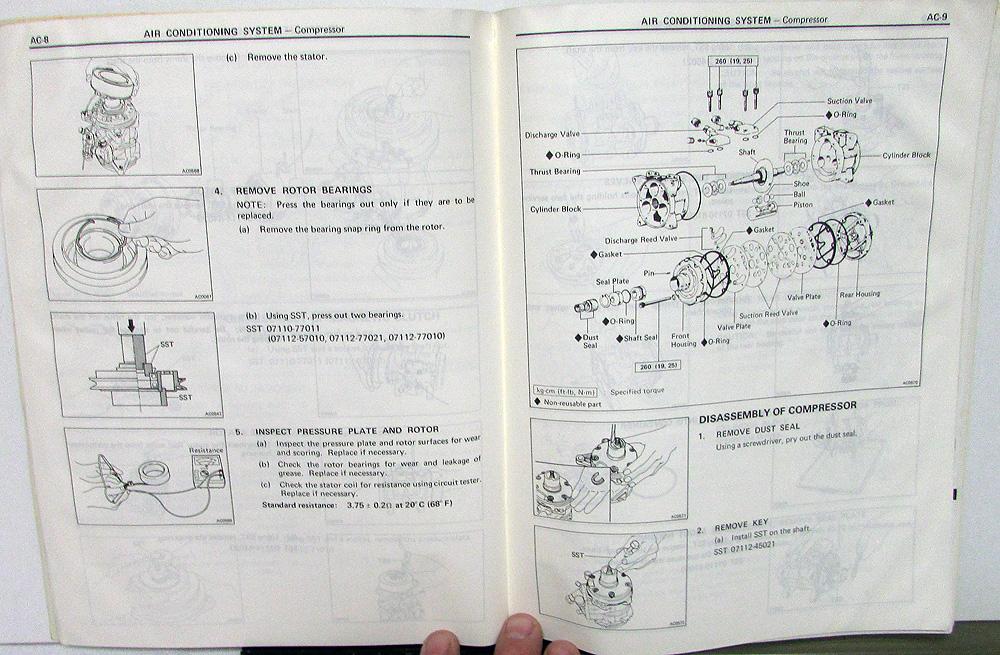 1985 toyota land cruiser service shop repair manual