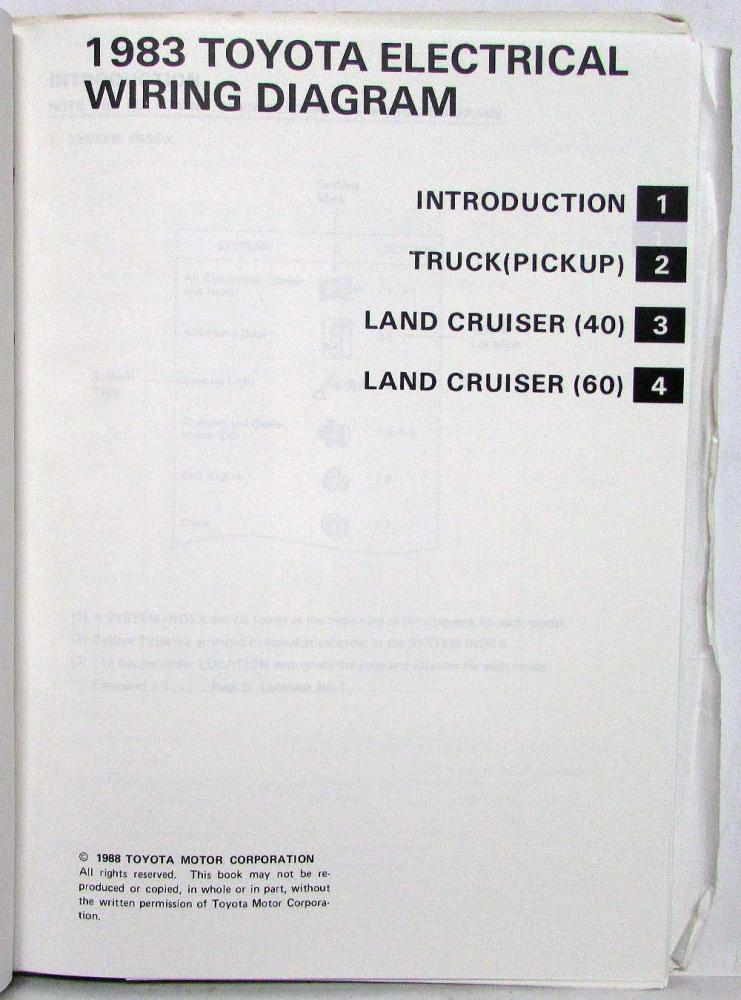 1983 toyota truck and land cruiser electrical wiring diagram manual Escalade Wiring Diagram 1983 toyota truck and land cruiser electrical wiring diagram manual us \u0026 canada