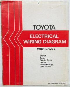 1982 Toyota Models Electrical Wiring Diagram Manual US & Canada