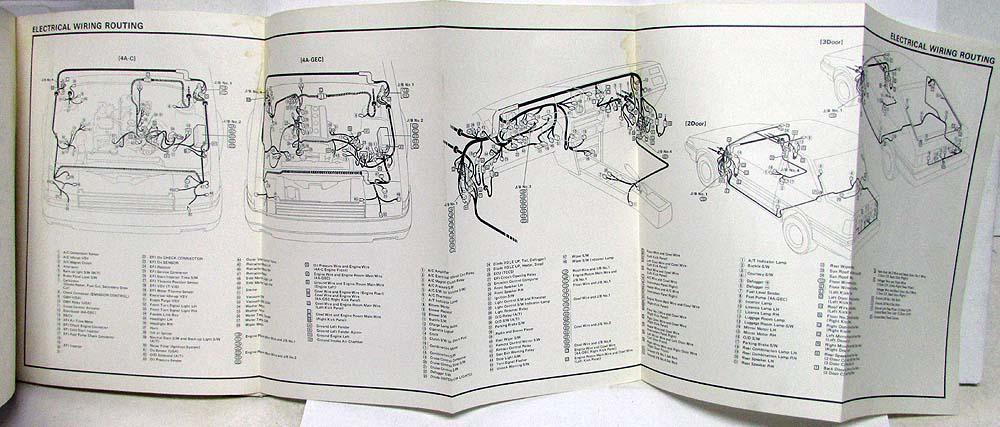 1985 toyota corolla fr electrical wiring diagram manual us & canada  troxel's auto literature