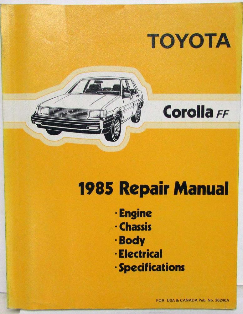 1985 toyota corolla ff shop repair manual electrical wiring rh autopaper com 92 Toyota Corolla Wiring Diagram 99 Toyota Corolla Wiring Diagram