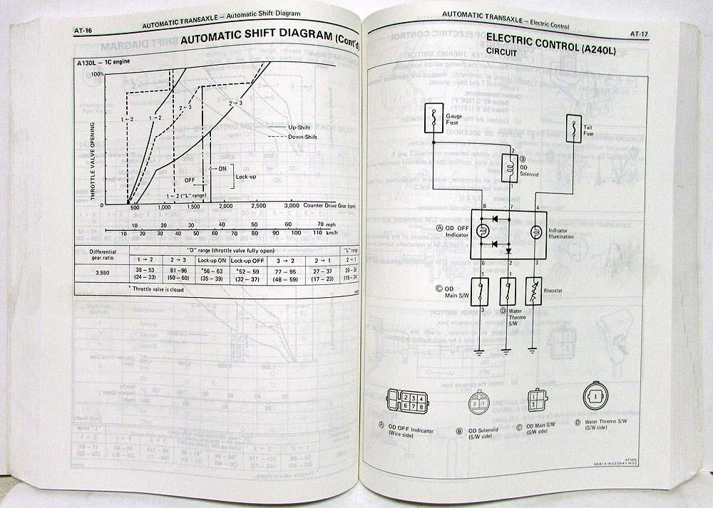 1985 toyota corolla ff shop repair manual  u0026 electrical