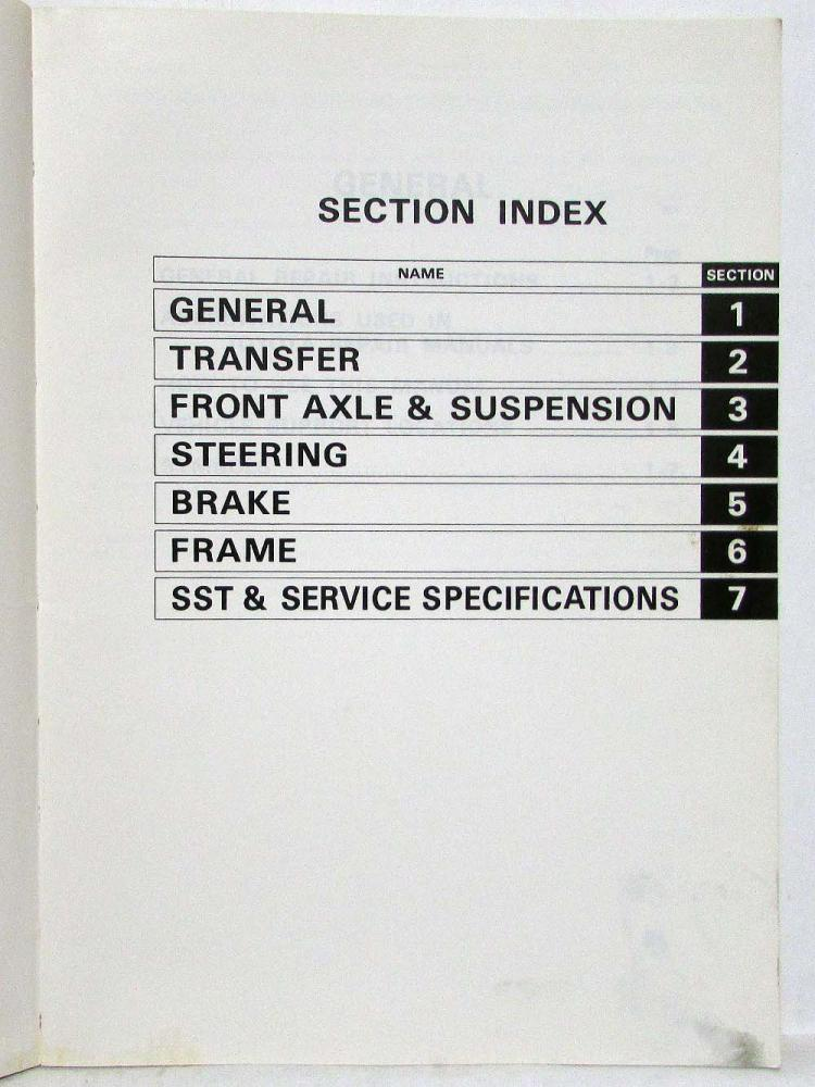 1978 Toyota Hi-Lux Service Shop Repair Manual Supplement for 4WD ...