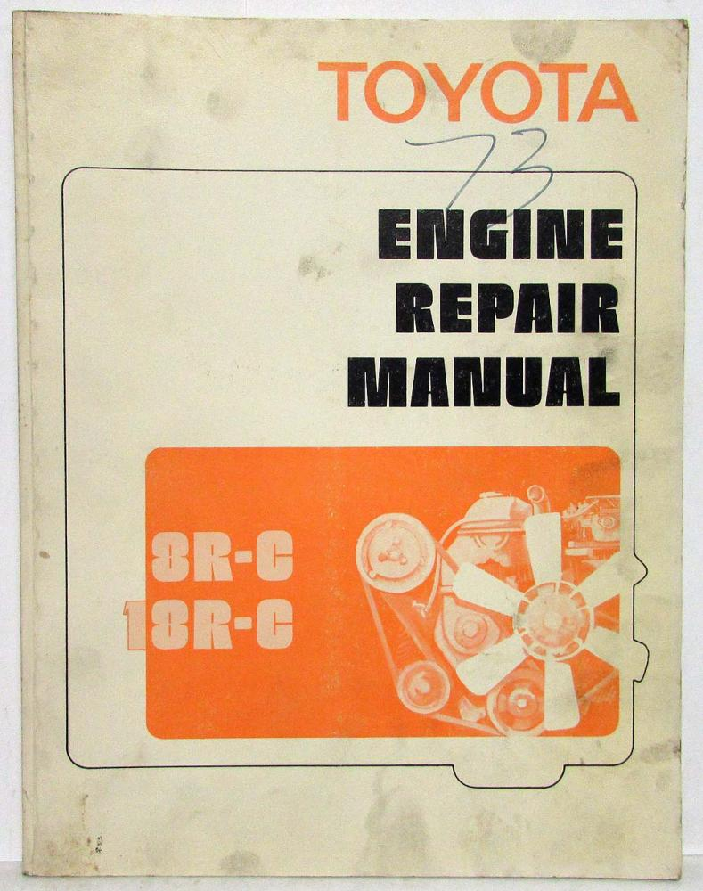 1973 toyota engine service shop repair manual 8r c 18r c rh autopaper com toyota 18r engine repair manual pdf Toyota ZZ Engine