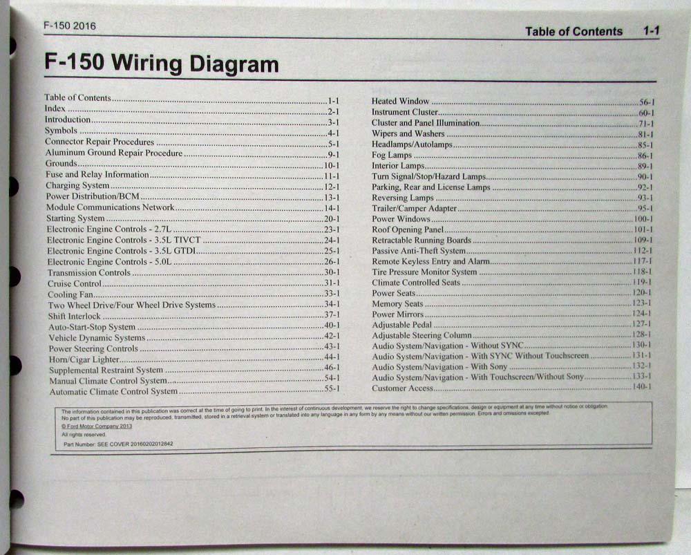 2016 Ford F 150 Pickup Raptor Electrical Wiring Diagrams Manual 40 Diagram