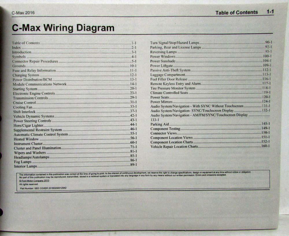 2016 Ford C Max Hybrid Energi Electric Electrical Wiring Diagrams Manual 29 Diagram