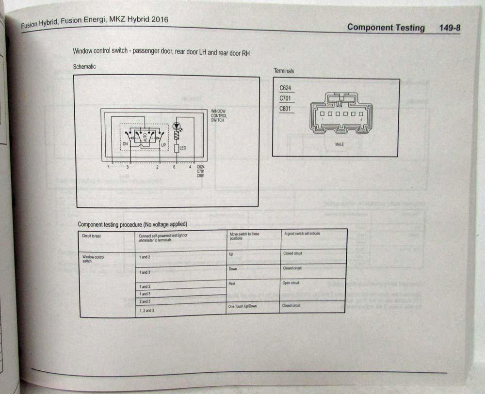 2016 Ford Fusion Energi Lincoln Mkz Hybrid Electrical Wiring 2009 Diagram Diagrams Manual