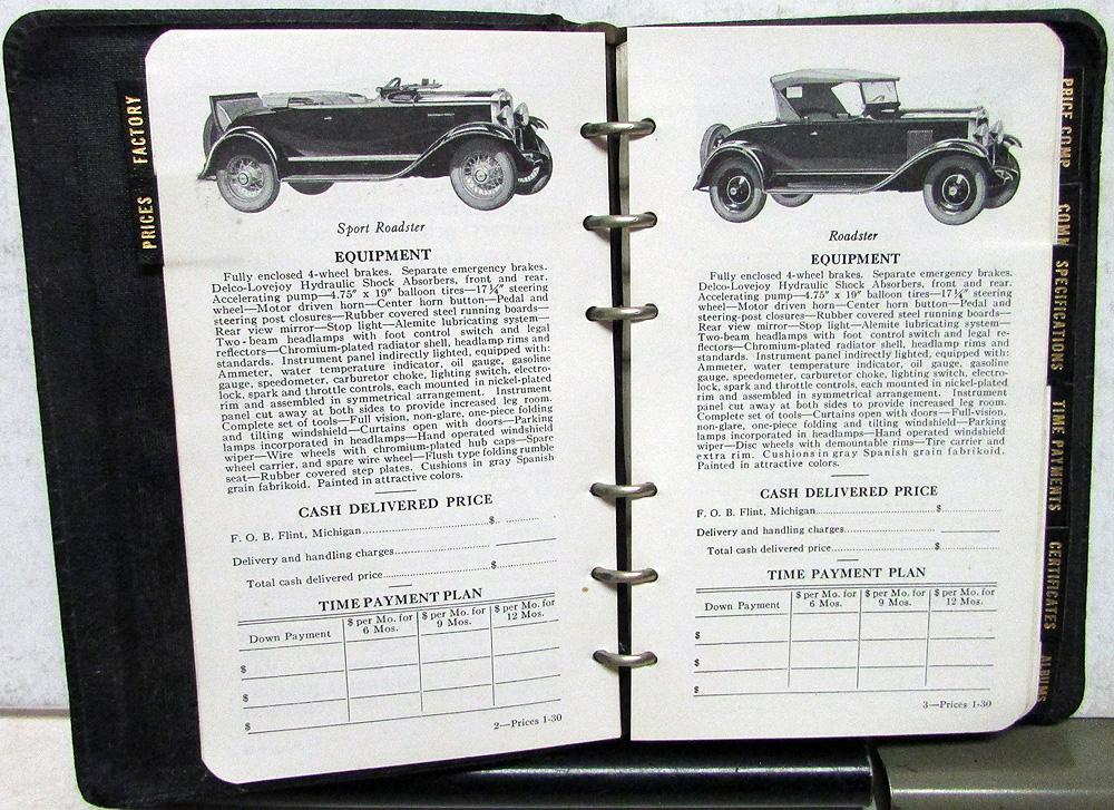 1930 Chevrolet Truck & Car Data Book Prices Features Options Specs ...