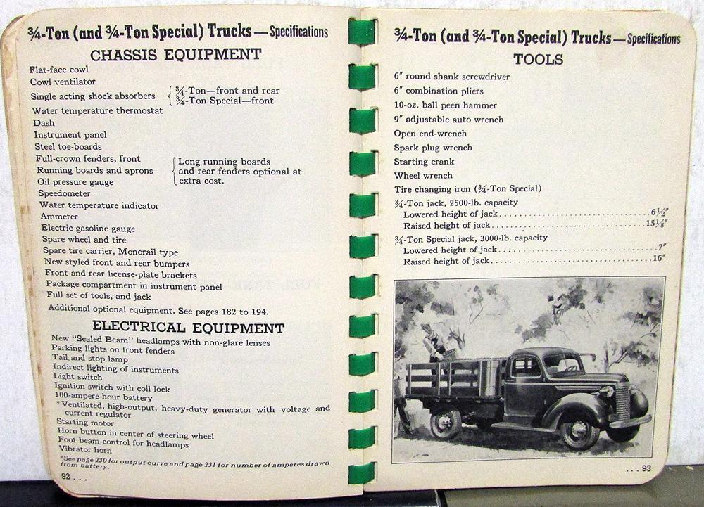 92 chevy truck specs