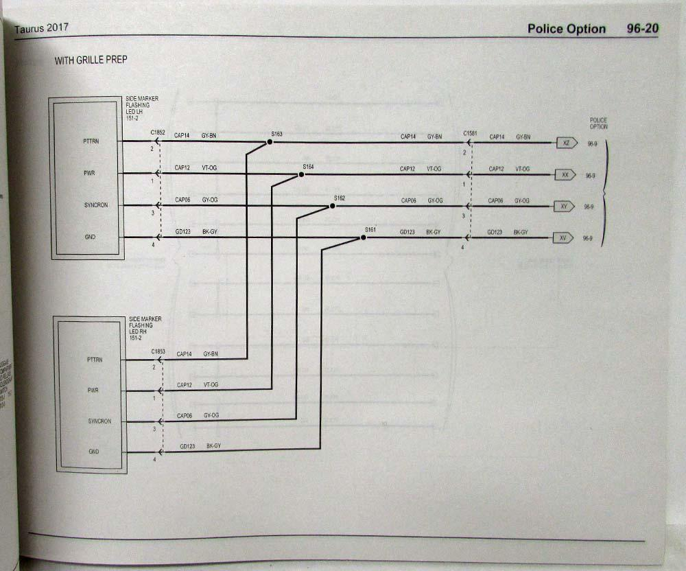 2017 Ford Taurus Interceptor Electrical Wiring Diagrams Manual Power Window Diagram Vt
