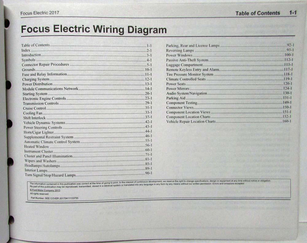 2017 Ford Focus Electric Electrical Wiring Diagrams Manual Ford Focus Electric Wiring Diagram on ford bronco wiring diagram, ford f-250 wiring diagram, ford lcf wiring diagram, ford probe wiring diagram, ford model t wiring diagram, ford festiva wiring diagram, ford edge wiring diagram,