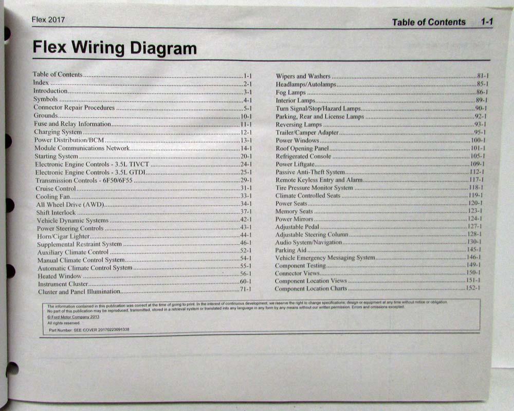 2017 Ford Flex Electrical Wiring Diagrams Manual Raptor Diagram 120