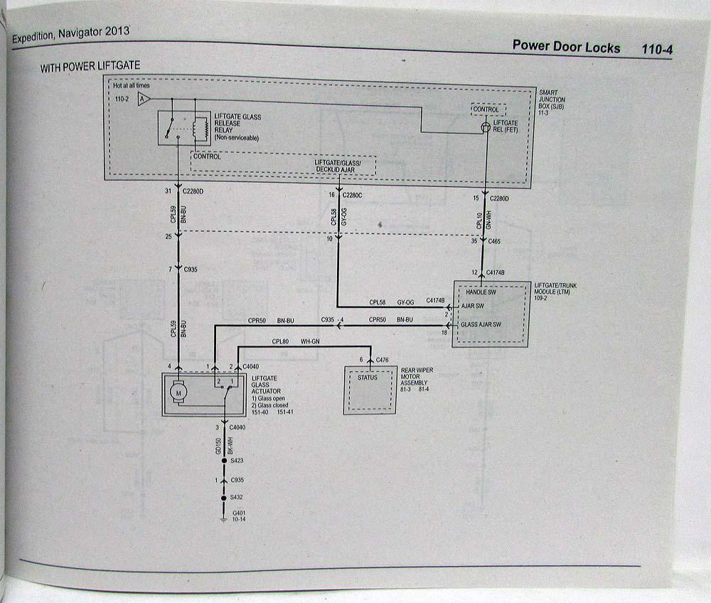 2013 Ford Expedition Lincoln Navigator Electrical Wiring Diagrams Diagram Manual