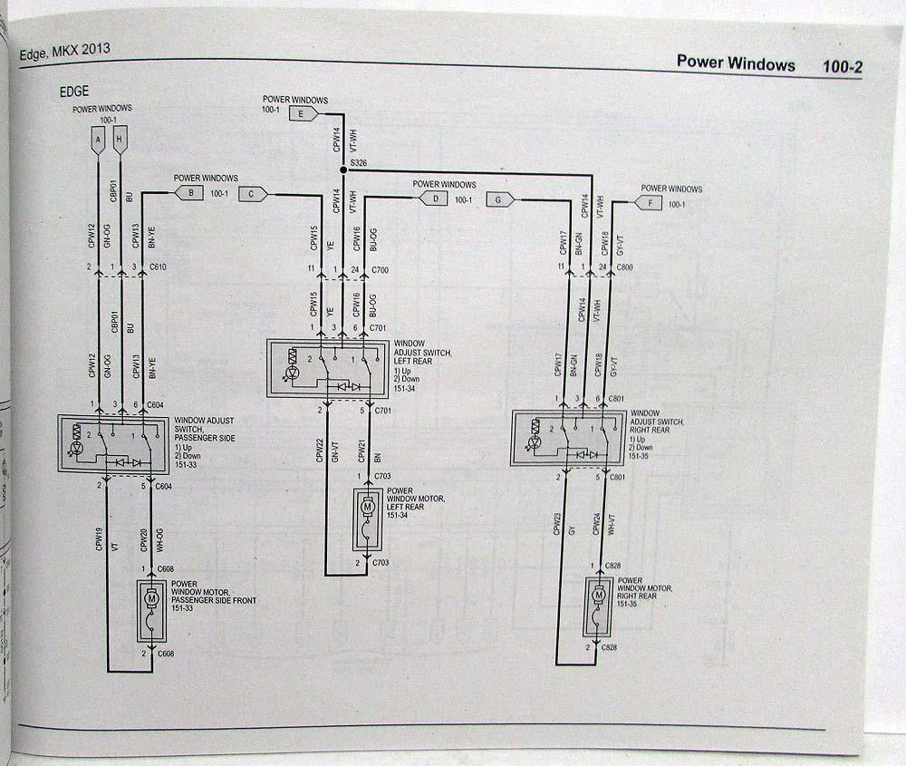 2013 ford edge and lincoln mkx electrical wiring diagrams 1939 ford wiring harness #2