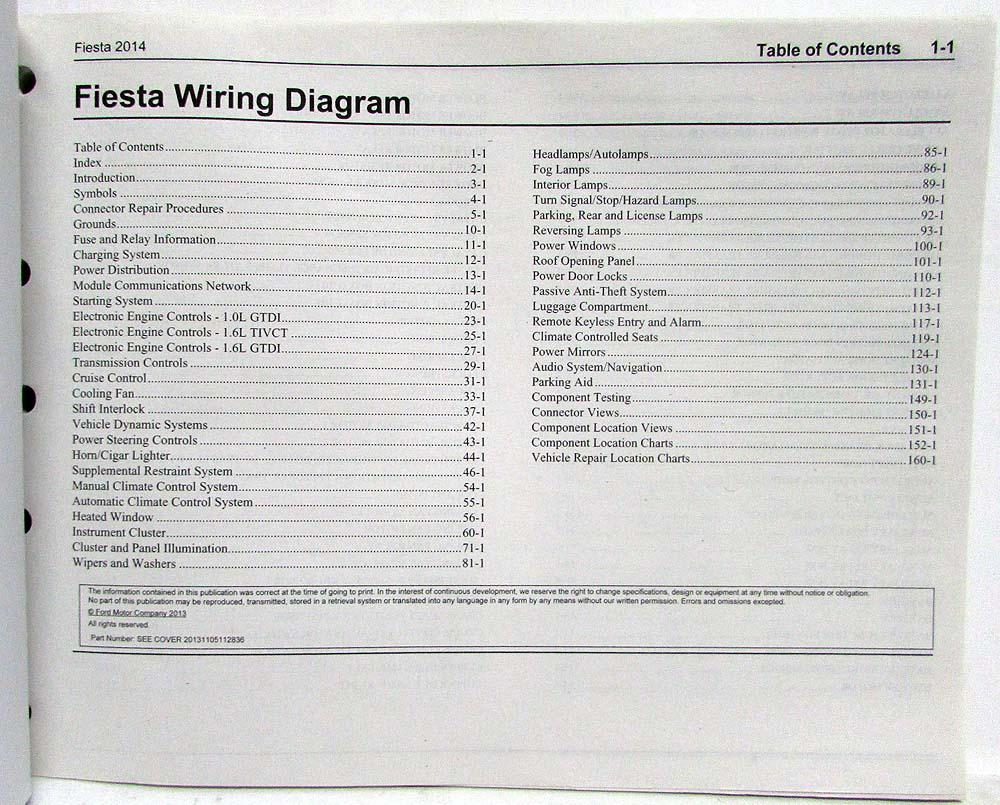 2014 ford fiesta electrical wiring diagrams manual rh autopaper com Ford Fiesta Mirror Wiring Diagram Wire Diagram for Ford Fiesta 2012