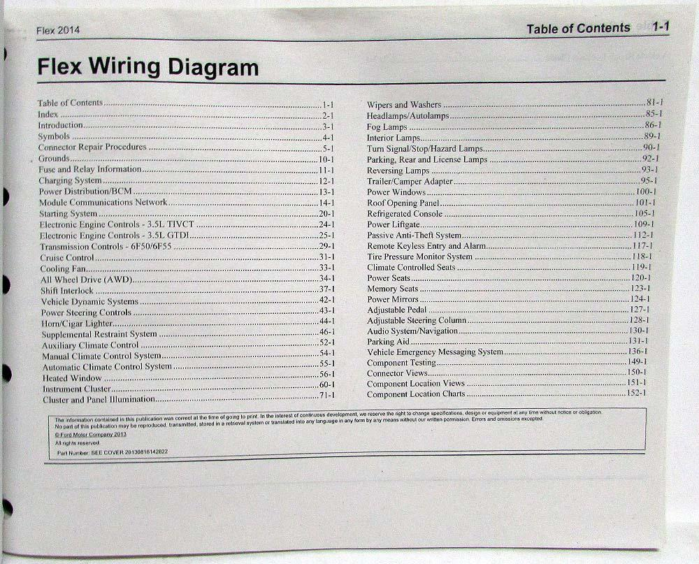 2014 ford flex electrical wiring diagrams manual Ford F750 Wiring Schematic