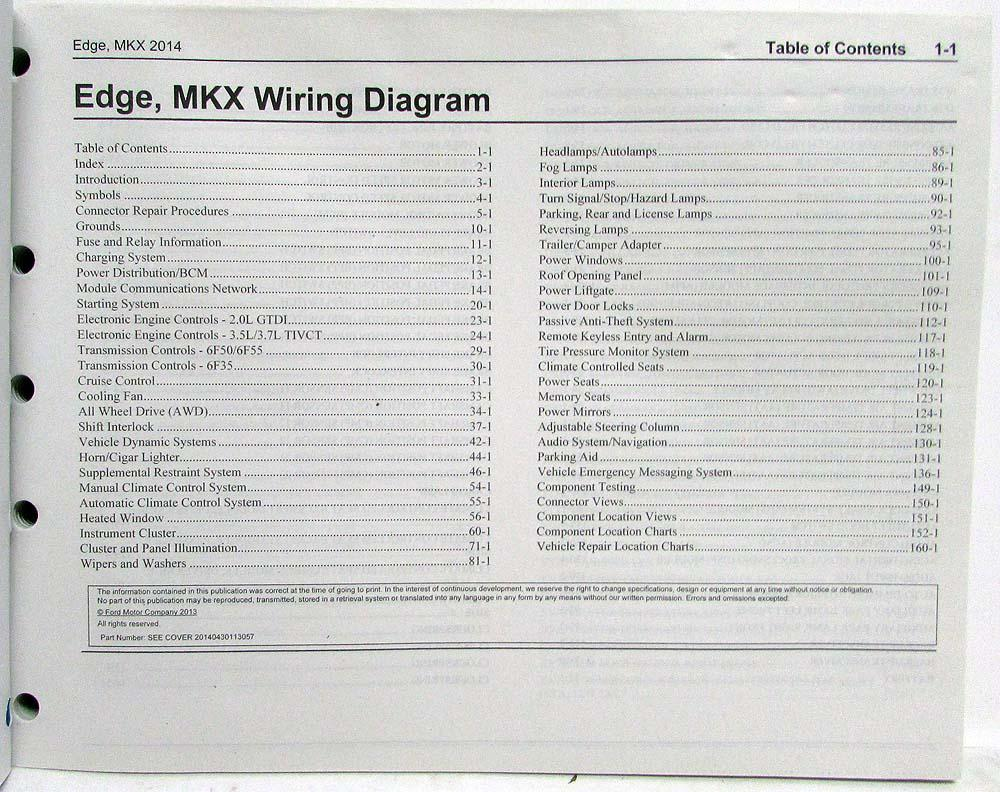 2014 ford edge and lincoln mkx electrical wiring diagrams manual rh autopaper com