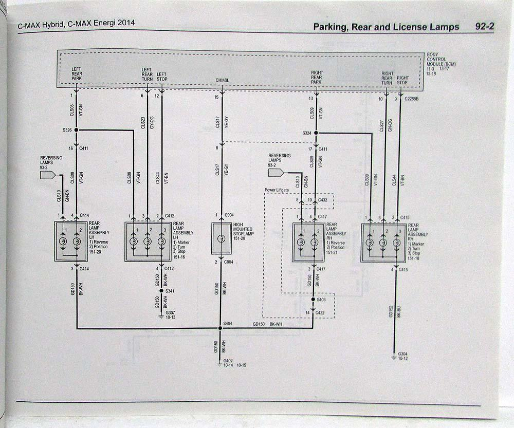 2013 ford c max fuse diagram ford c max 2008 wiring diagrams 2014 ford c-max hybrid energi electric electrical wiring ... #8