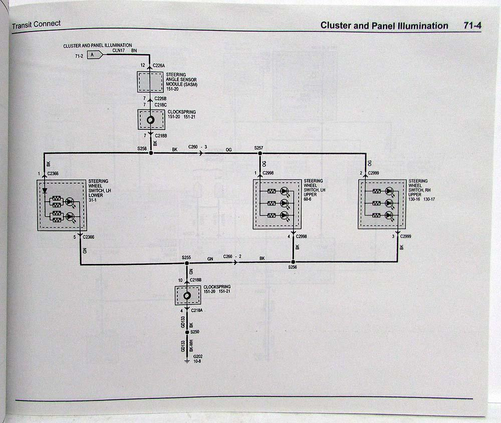 2014 Ford Transit Connect Electrical Wiring Diagrams Manual Diagram